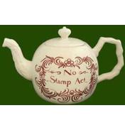 No Stamp Act Teapot