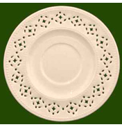 Leeds Pottery Creamware Pierced Saucer