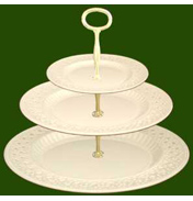 3 Tier Pierced Plate Cake Stand