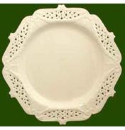 Leeds Pottery Creamware Large Dessert Plate