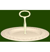 Open Work Single Tier Cake Stand -Victorian
