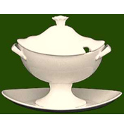 Charlotte Oval Sauce Boat with Stand