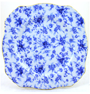 Royal Winton Blue Cottage Ascot Plate 8""