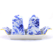 Blue Cottage 3 Piece Cruet Set