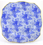 Royal Winton Blue Welbeck Ascot Plate 8""