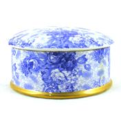 Blue Welbeck Round Trinket Box