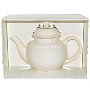 White Toast Boxed Four Cup Teapot