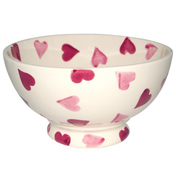 Pink Hearts French Bowl