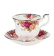 Old Country Roses Avon Teacup and Tea Saucer