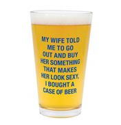 A Case of Beer Pint Glass