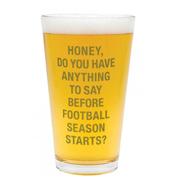 Football Season Pint Glass