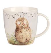 Alex Clark Squash Mug Bunting Owl 390ml