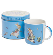 Peter Rabbit Mug in Tin