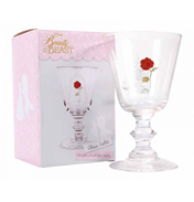 Disney Beauty & The Beast Glass Goblet (Rose)…