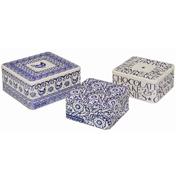 Blue Hen Set of 3 Square Cake Tins