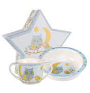 Twinkle Twinkle Blue Porringer and Mug Set Gift Box
