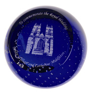 Caithness Glass Royal Wedding Westminster Abbey…