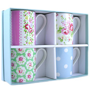 Cath Kidston Spray Flower Larch Tea Mugs Gift Set