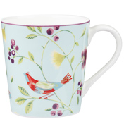 Collier Campbell Chestnut Mug Singing Birds Blue 300ml