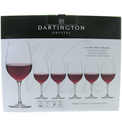 Dartington Crystal Red Wine Glasses (6 Pack)