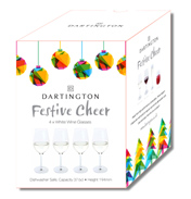 Festive Cheer White Wine Glasses Four Pack