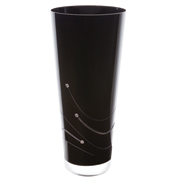Noir Conical Vase Medium