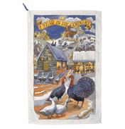 Winter Scene Tea Towel