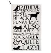 Emma Bridgewater Black Toast Labrador Tea Towel