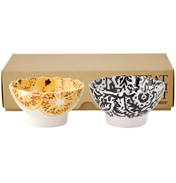 Black Toast & Marmalade Set of 2 Fluted Bowls (BOXED)