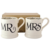 Emma Bridgewater Black Toast Mr & Mrs 2x Half…