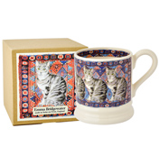 Cats on Rugs Tabby 1/2 Pint Mug
