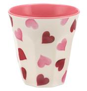 Pink Hearts 2 Tone Melamine Beaker
