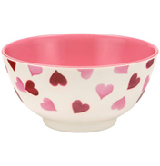 Pink Hearts 2 Tone Melamine Bowl