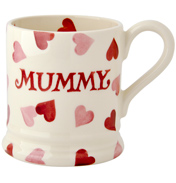 Pink Hearts 'Mummy' 1/2 Pint Mug