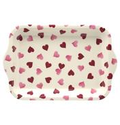 Pink Hearts Small Melamine Tray