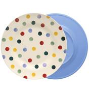 Polka Dot 2 Tone Melamine Plate