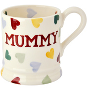 Emma Bridgewater Polka Hearts Mummy 1/2 Pint Mug