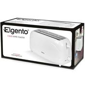 Elgento 4 Slice White Toaster
