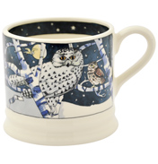 Owls at Night Blue Baby Mug