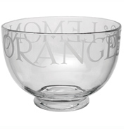 Black Toast Large Glass Bowl