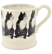 Black & White Cat ½ Pint Mug