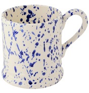 Blue Splatter ½ Pint Mug
