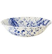 Blue Splatter Large Dish