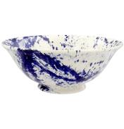 Blue Splatter Medium Serving Bowl