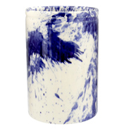 Blue Splatter Medium Vase