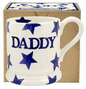 Emma Bridgewater Blue Star DADDY ½ Pint Mug (BOXED)