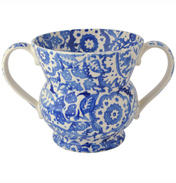Blue Wallpaper Two Handled Vase