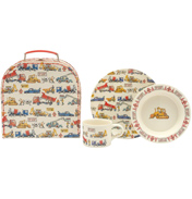 Builders at Work Three Piece Melamine Children's Set