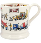 Builders at Work ½ Pint Mug