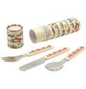 Builders at Work Children's Cutlery Set